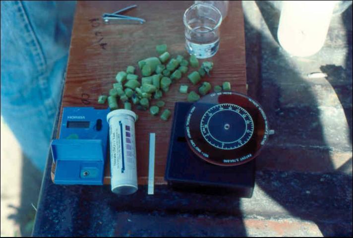 Figure 12.Plant petiole sap-testing kits for measuring nitrogen status of plants.