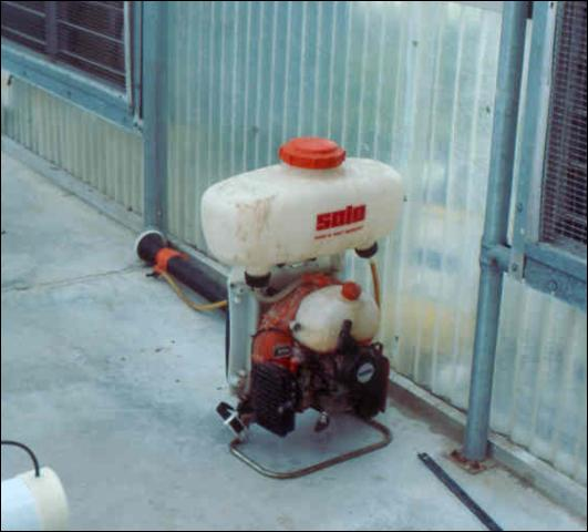 Figure 31.Motorized, backpack sprayer for applying pesticides.