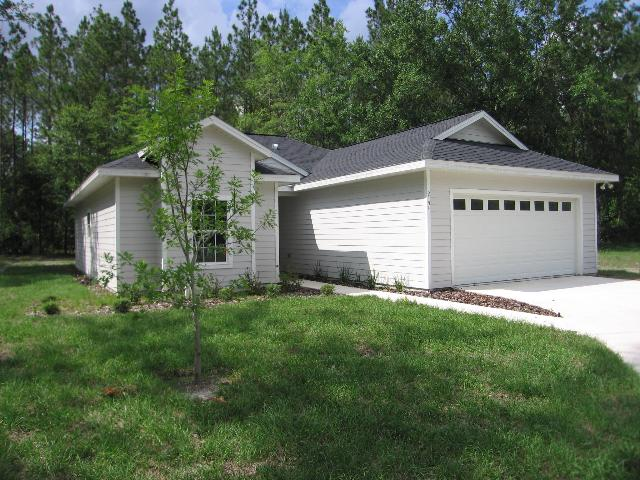 Figure 1.A young tree planted in front of a new home in Gainesville, FL, that in the future will store and sequester carbon and reduce carbon emissions by shading the home.