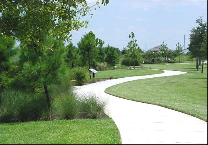 Figure 3.A walking path in a Florida residential community (Town of Harmony).