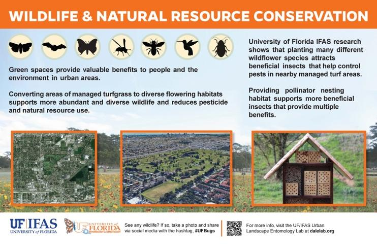 Figure 6.Template signage that can be placed next to golf course wildflower habitats to engage golfers and educate them about the environmental benefits associated with these spaces.