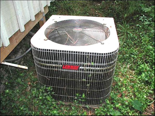 Figure 10.A typical AC unit attached to a house.