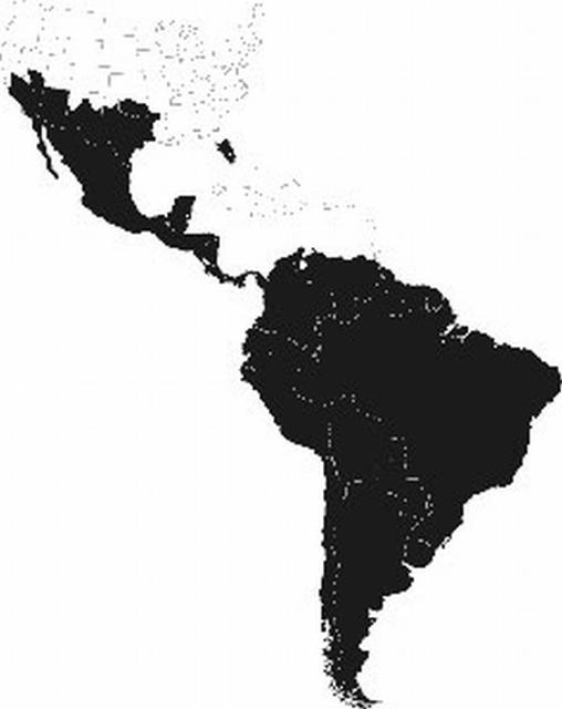Figure 4. Distribution of Apis mellifera scutellata in the Americas as of 2007.
