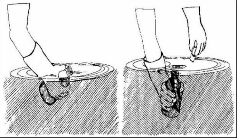 Figure 4. Proper sampling for DO involves submerging the sample bottle, allowing to gradually fill, and capping while under water.