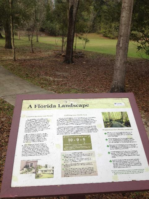 Figure 2.An example of an educational sign in the Madera green community in Gainesville, FL.