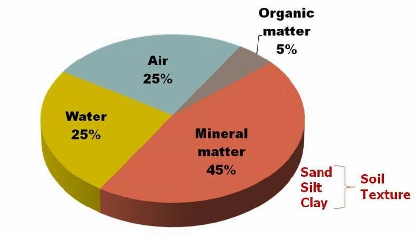 Figure 1.Typical components of soil.
