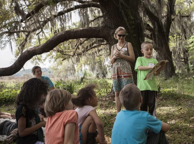 Figure 3.An outdoor education program with Alachua Conservation Trust's Tuscawilla Learning Center on their Tuscawilla Preserve.