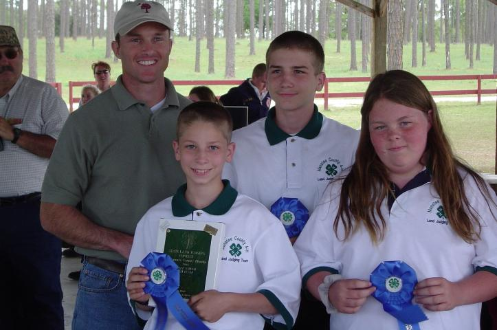 Figure 3.The Manatee County 4-H middle school team received first place at the Florida 4-H/FFA Land Judging Contest.