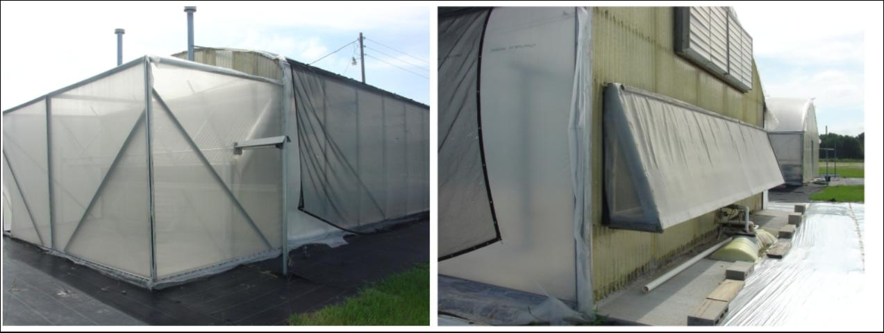 Figure 2.Insect screen covering air intake area.