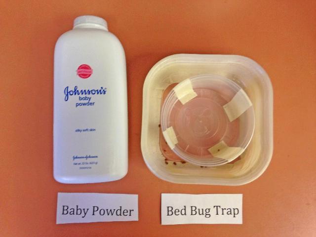 Figure 7.Talco de bebé y una trampa de chinches de cama terminada.