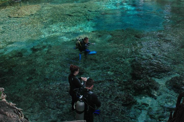 Figure 3.Divers in a Florida springs (Credit: UF/IFAS)