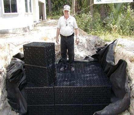 Figure 4.A subsurface exfiltration system installed at the Madera subdivision in Gainesville, FL.