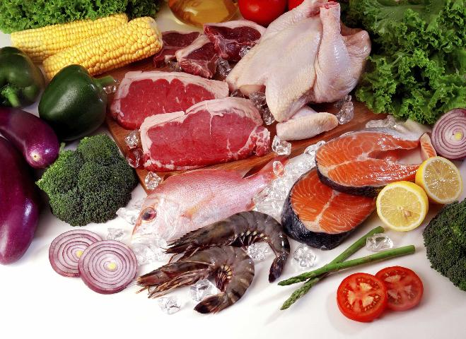Figure 2. Meat, poultry, and fish are naturally rich sources of iron. The form of iron in these foods is well-absorbed.