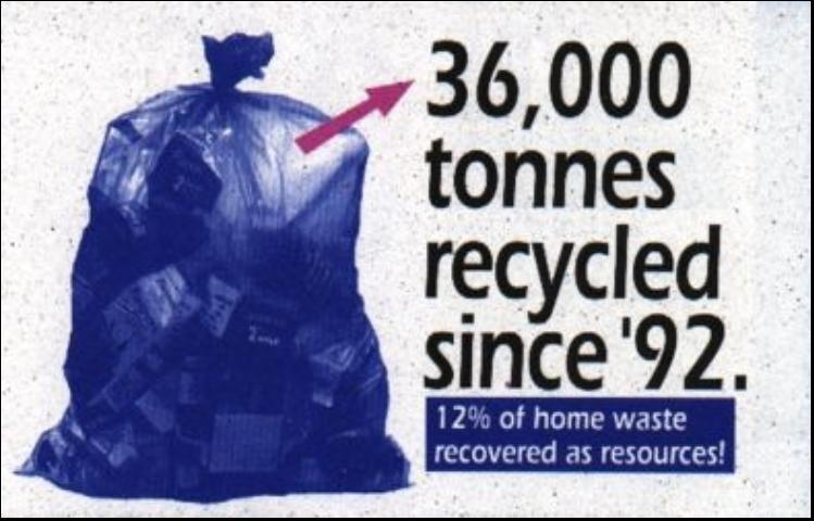 Figure 4.A poster recognizing a community's recycling accomplishments.