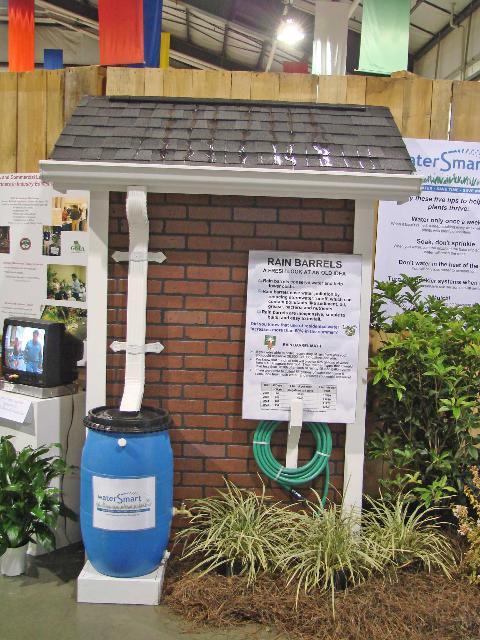 Figure 6.Rain barrels store water for future use.