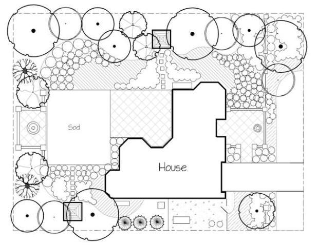Figure 5.A sample Florida-Friendly Landscape Master Plan.