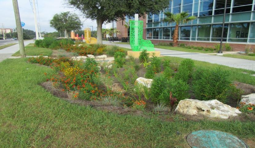Figure 2.A bioretention area at SW Recreation Center, University of Florida