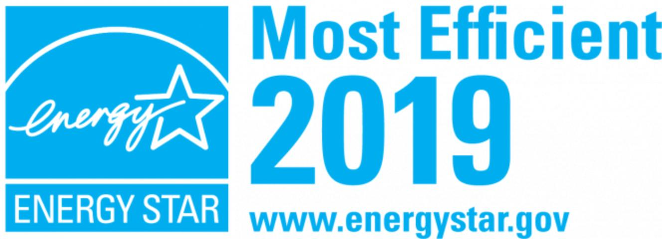 Figure 3. Sample ENERGY STAR Most Efficient logo for use on qualified products only.