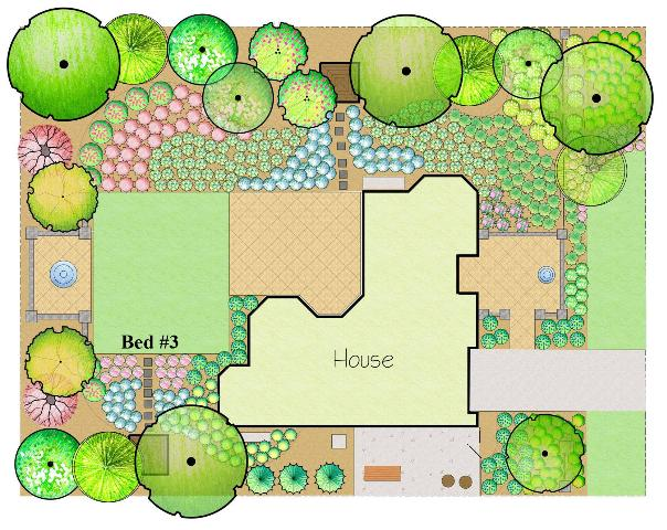 Figure 22.Plant Bed #3 is the last planted area to be installed for a finished Florida-Friendly landscape.